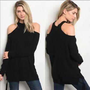 ✨LAST✨sz Small MANGO Angora Open Shoulder Sweater